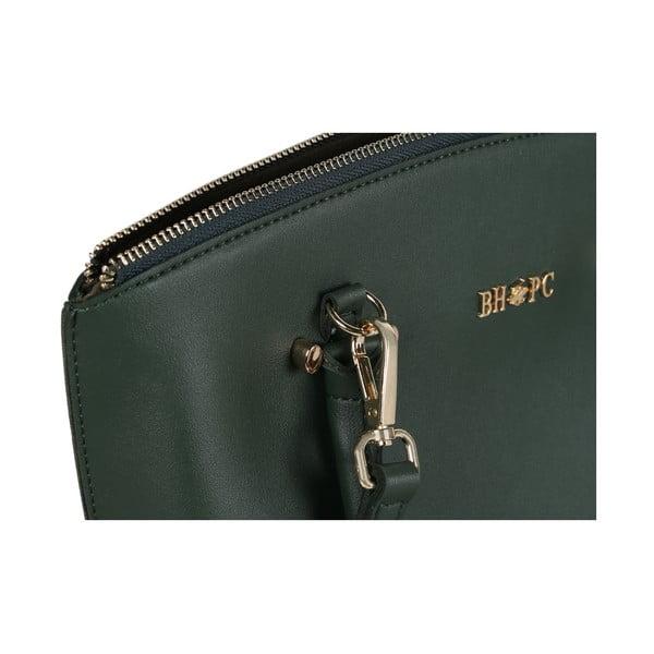 Zelená kožená kabelka Beverly Hills Polo Club Evelin