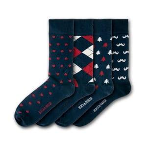 Sada 4 ponožiek Black&Parker London Bicton Park, veľkosť 37 – 43