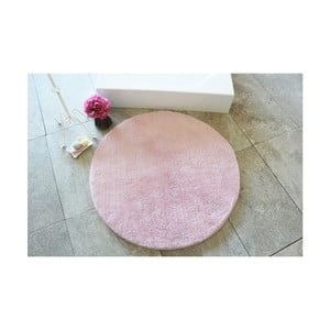 Svetloružová kúpeľňová predložka Confetti Bathmats Colors of Light Pink, ⌀90 cm