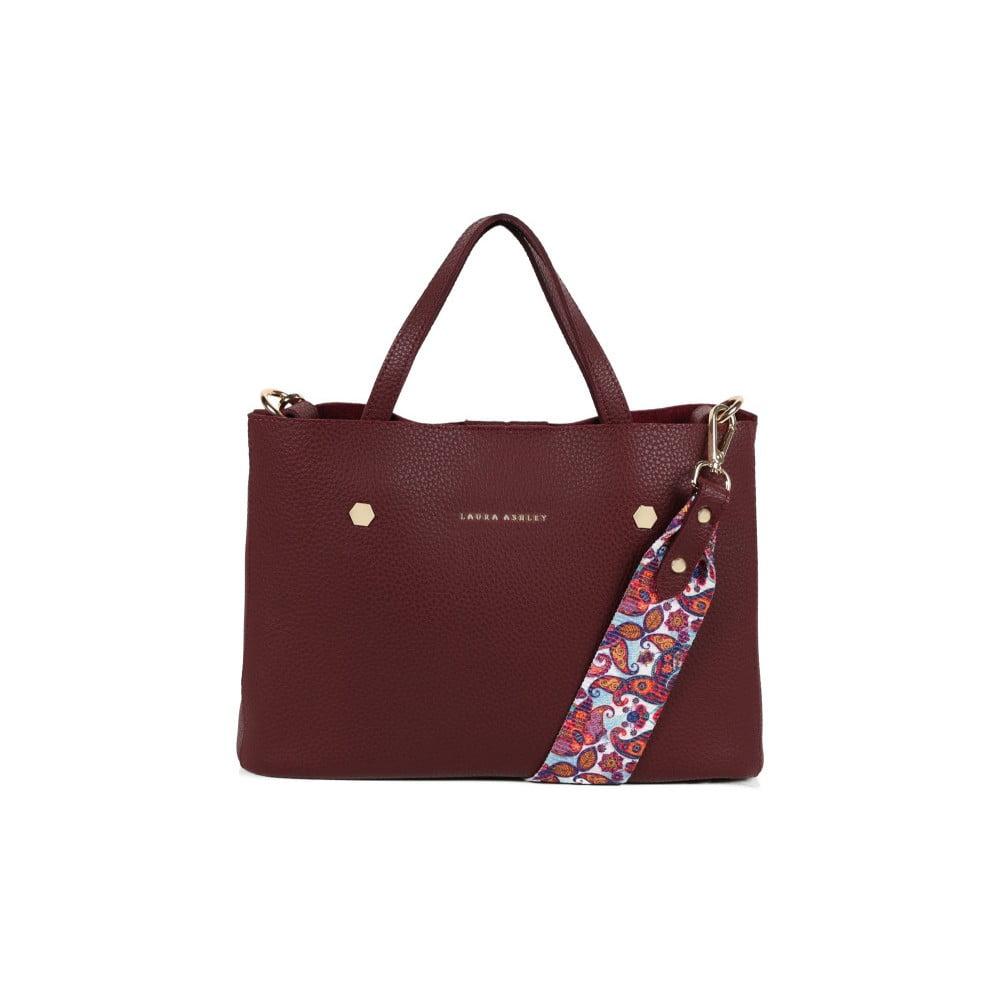 Červená kabelka z koženky Laura Ashley Sekforde 35b9899b1a0