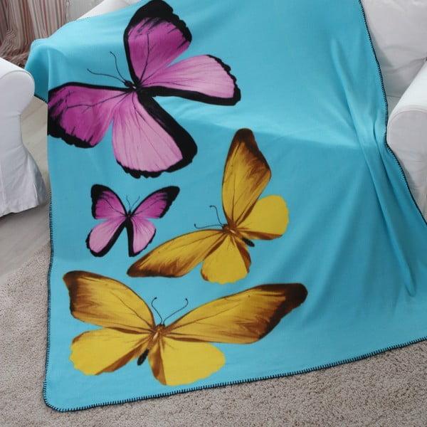Fleecová deka Polar Butterfly, 150x200 cm