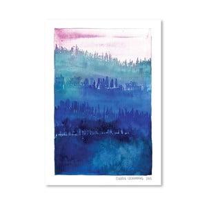 Plagát Pink Wood, 30x42 cm