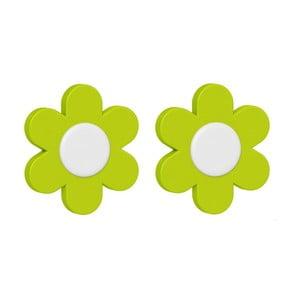 Dekoratívne klipsy na kvetináč Flower Green, 2 ks