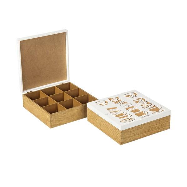 Sada 2 krabičiek na čaj Corcho
