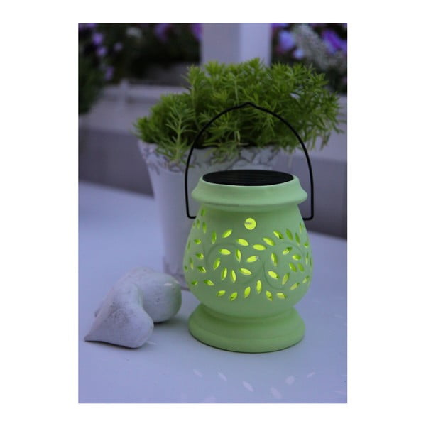 Svietnik Solar Energy Clay Lantern Green