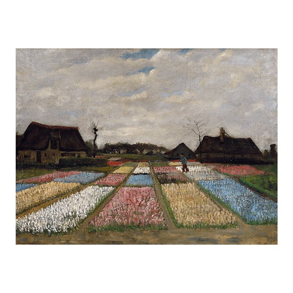 Obraz Vincenta van Gogha - Flower Beds in Holland, 40x30 cm
