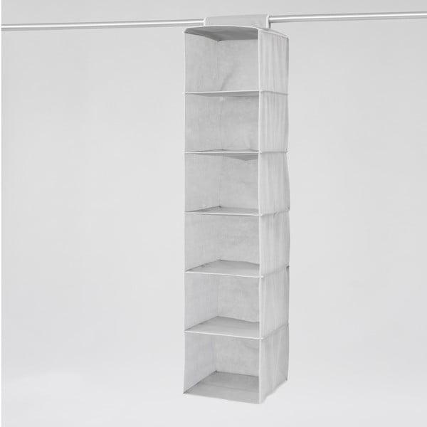 Textilný závesný organizér Compactor Clear 6 Rack