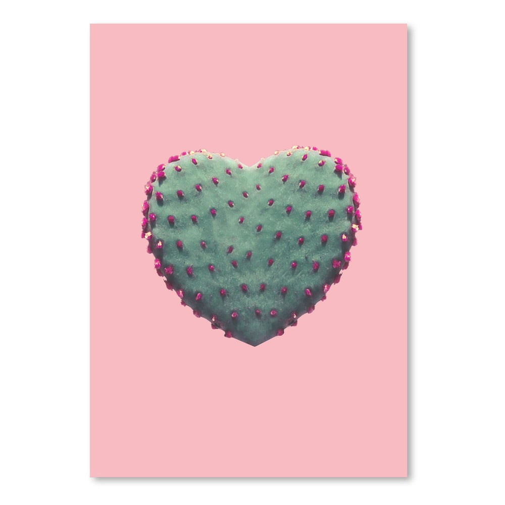 Plagát Americanflat Heart Of Cactus, 30 × 42 cm