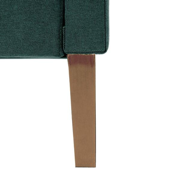 Zelenomodrá posteľ VIVONITA Kent 160x200cm, svetlé nohy