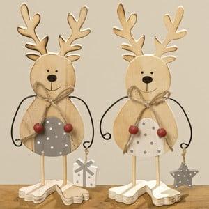 Sada 2 dekoratívnych sošiek Boltze Lupo