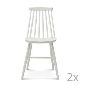 Sada 2 bielych drevených stoličiek Fameg Age