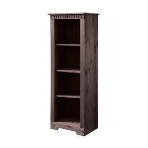 Tmavohnedá knižnica z masívneho borovicového dreva Støraa Candice