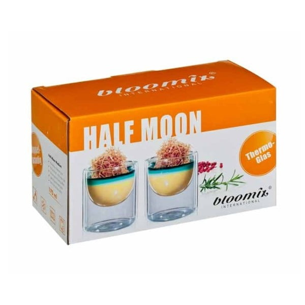 Sada 2 stredných pohárov bloomix Half Moon
