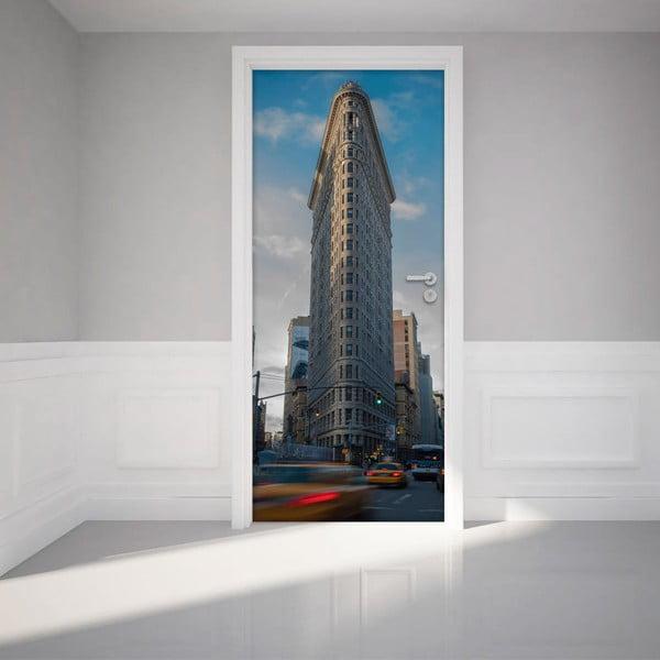 Samolepka na dvere NY Flatiron