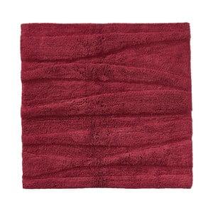 Vínovočervená kúpeľňová predložka Zone Flow, 65 x 65 cm