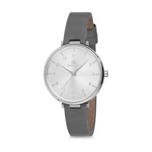 Dámske hodinky so sivým koženým remienkom Bigotti Milano Livia