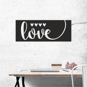 Čierna nástenná samolepiaca dekorácia North Carolina Scandinavian Home Decors Love V1, 65×25 cm