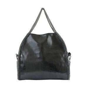 Čierna kožená kabelka Brandy