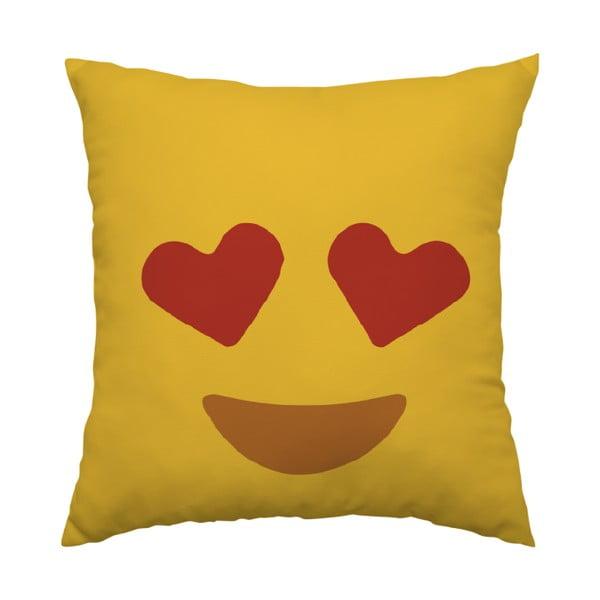 Vankúš Emoji Hearts, 40x40 cm