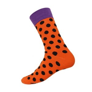 Ponožky Big Dots Orange, veľkosť 40-44