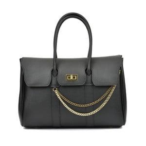 Čierna kožená kabelka Mangotti Carissa Lusma