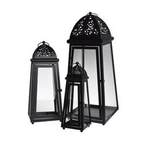 Set 3 lampášov Romantic Black