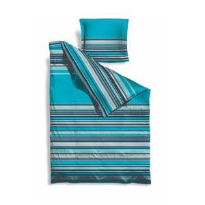 Predĺžené obliečky Turquoise Stripes, 140x220 cm