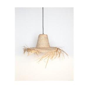 Prírodné svietidlo Surdic Lámpara Amaro v tvare klobúka, 60 x 60 cm