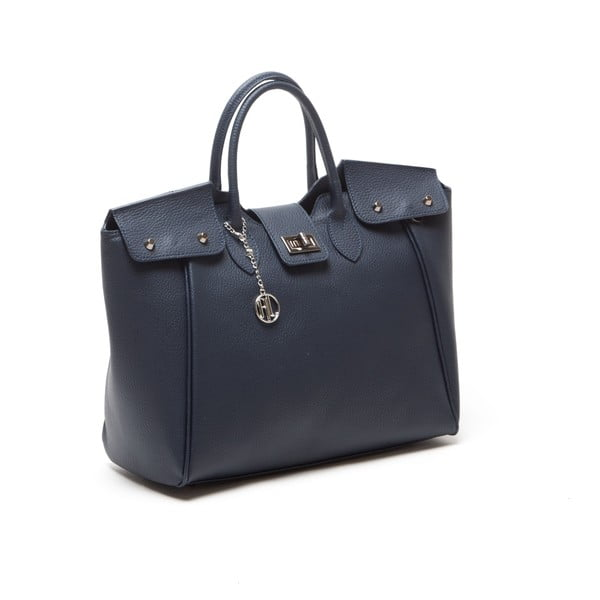 Kožená kabelka Anna Luchini 1134 Blu