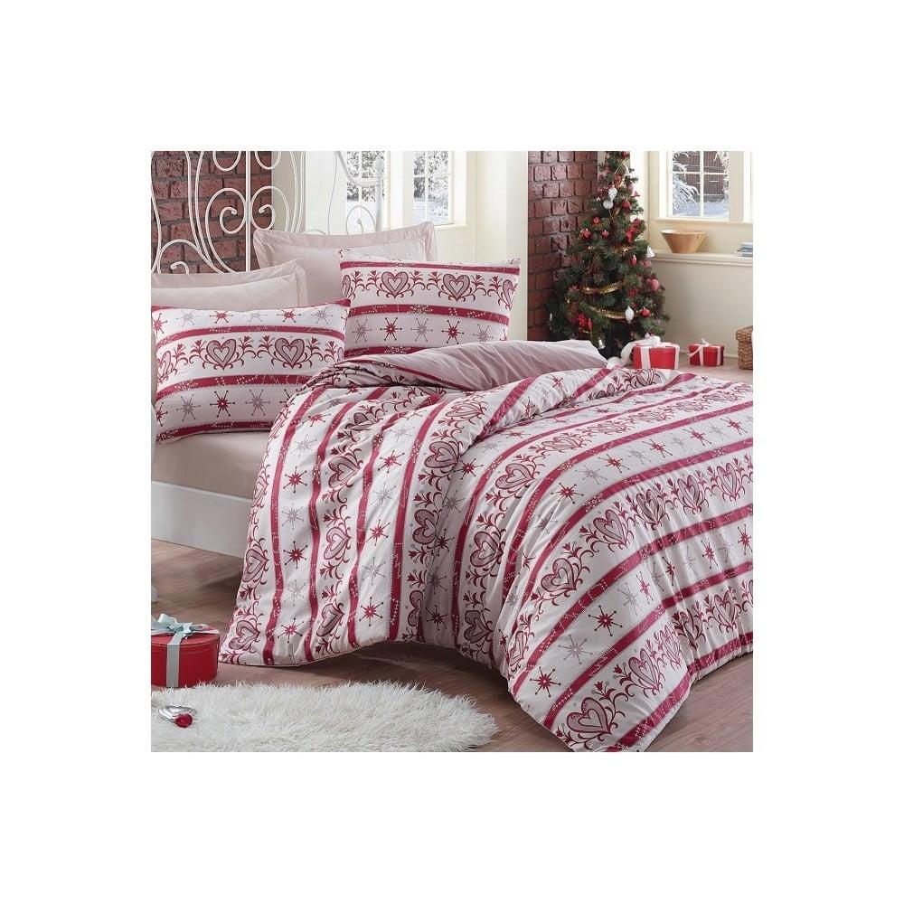 Béžové obliečky s plachtou Snow, 200x220 cm