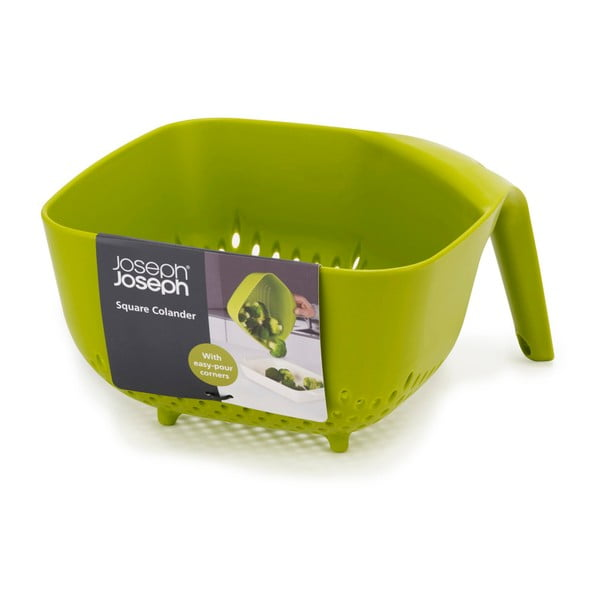 Veľké zelené kubické cedidlo Joseph Joseph Square Colander