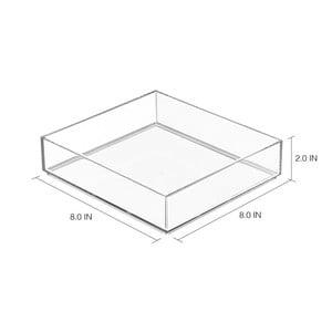 Transparentný organizér iDesign Clarity, 20×20 cm