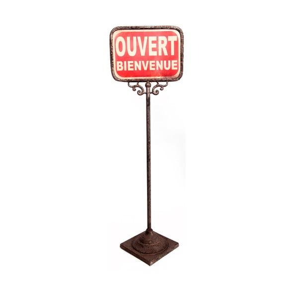Obojstranná stojacia ceduľka Antic Line Ouver-Ferme