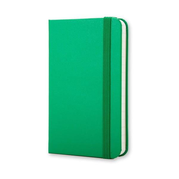 Žiarivo zelený minizápisník Moleskine, linajkový