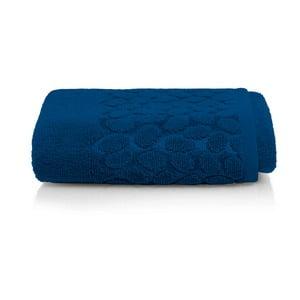 Tmavomodrý bavlnený uterák Maison Carezza Ciampino, 50×90 cm