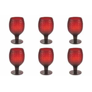 Sada 6 tmavočervených pohárov Villa d'Este Karma Calici, 300 ml