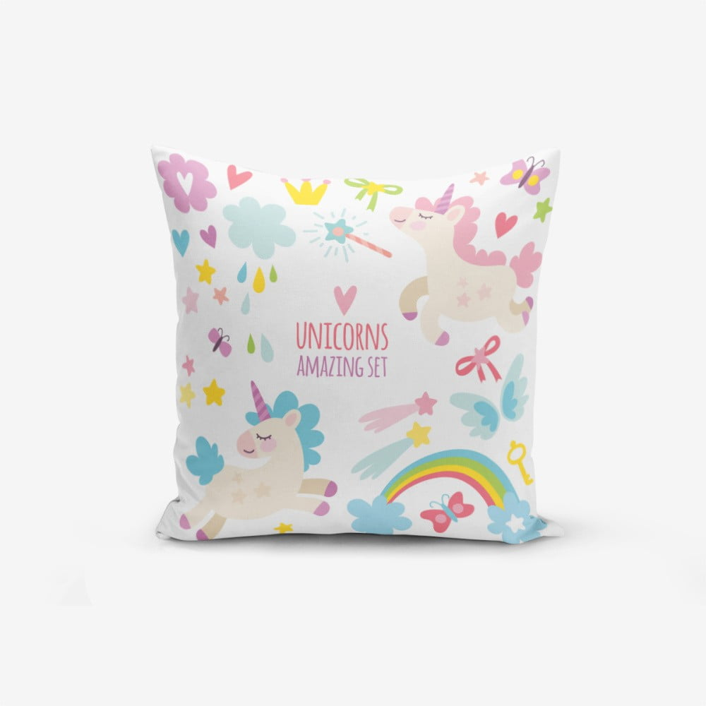 Obliečka na vankúš s prímesou bavlny Minimalist Cushion Covers Unicorn Child, 45 × 45 cm