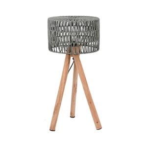 Sivá stolová lampa z mangového dreva LABEL51 Stripe
