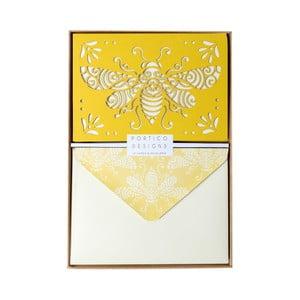 Sada 10 komplimentiek s obálkami Portico Designs FOIL Honeybee