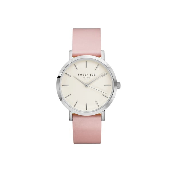 Strieborno-ružové dámske hodinky Rosefield The Gramercy