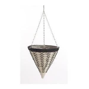 Závesný ratanový kvetináč Luxury Cone