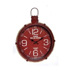 Červené nástenné hodiny InArt Hanging