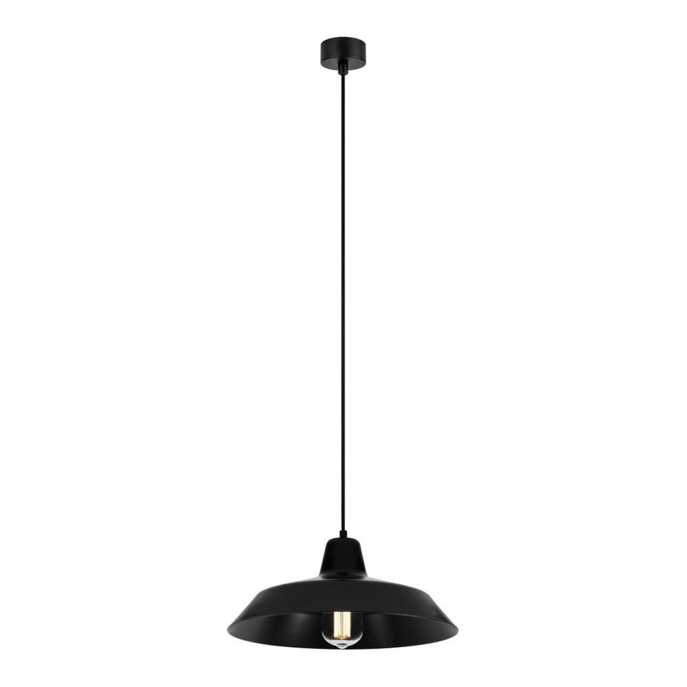 Čierne stropné svietidlo Bulb Attack Cinco