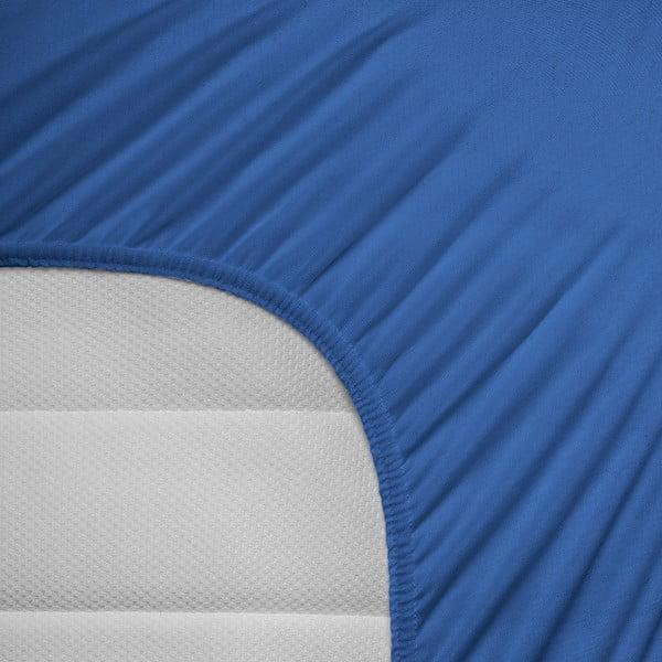 Elastické prestieradlo Hoeslaken 190-200x200-220 cm, modré