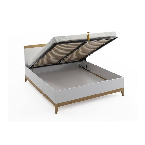 Dvojlôžková posteľ z masívneho borovicového dreva SKANDICA Livia BC, 140 x 200 cm