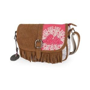 Ružovo-biela kabelka Lois, 24 x 17 cm