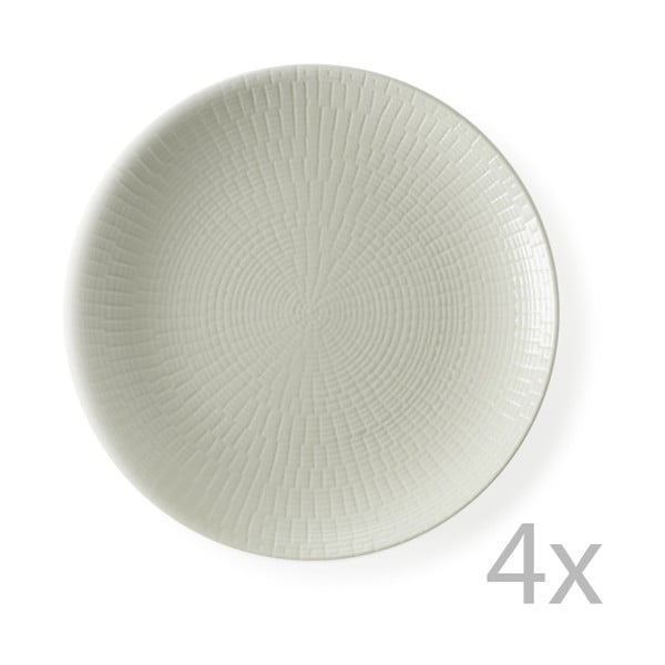 Sada 4 dezertných tanierov Granaglie Creme, 21 cm