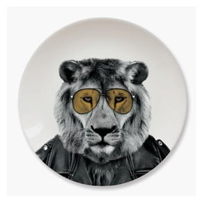 Keramický tanier Just Mustard Lion