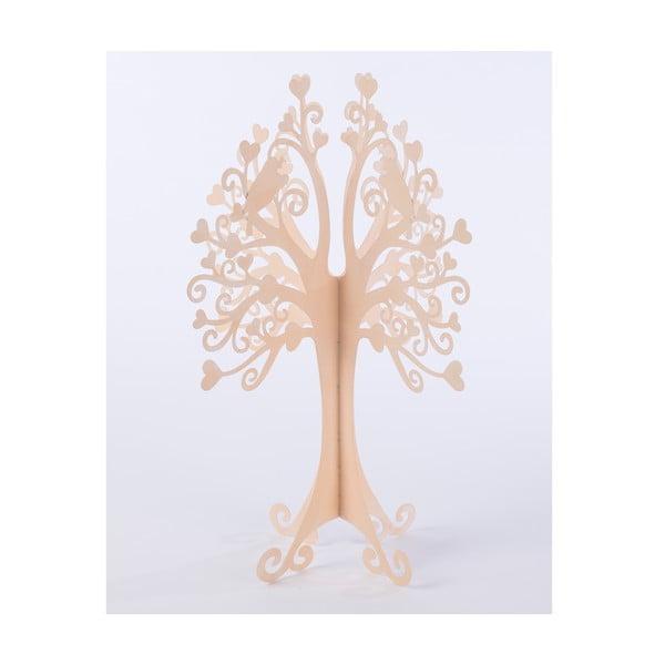 Dekoratívny kovový strom Tree 42 cm, pudrový