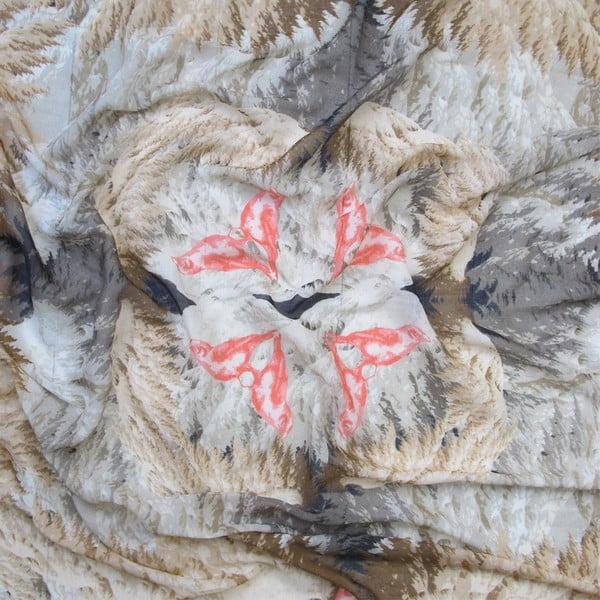 Vlnená šatka s kašmírom Winx 130x130 cm